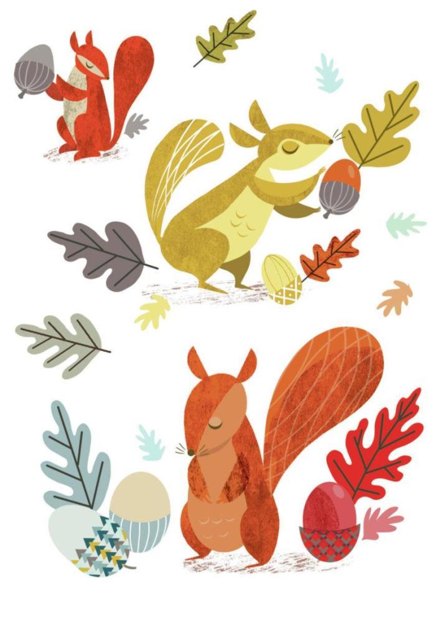 Retro Squirrels