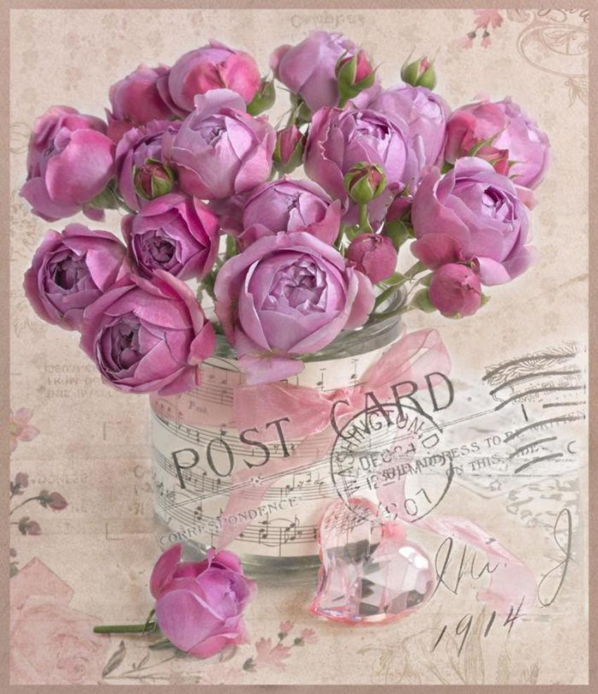 Postcard Greeting Card Floral Flowers LMN41231