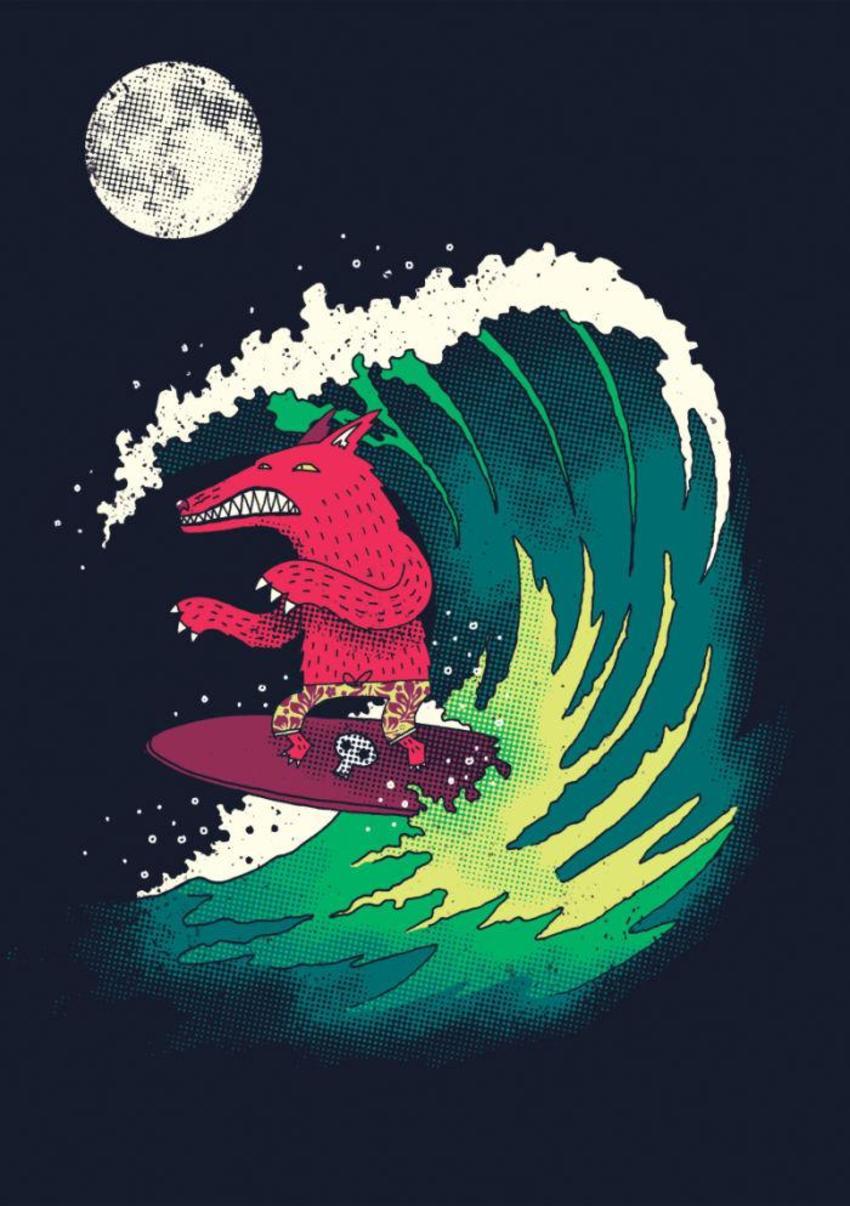 Moonlight Surfing