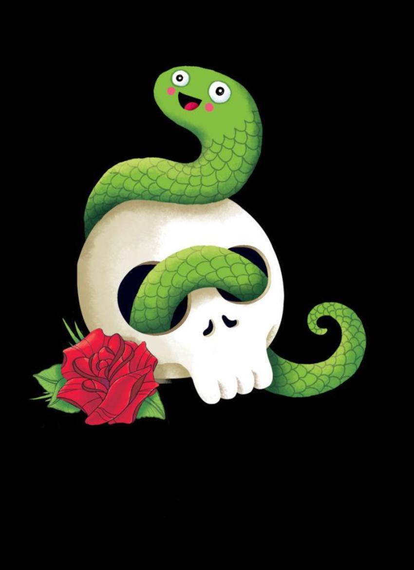 Badass Snake In Skull