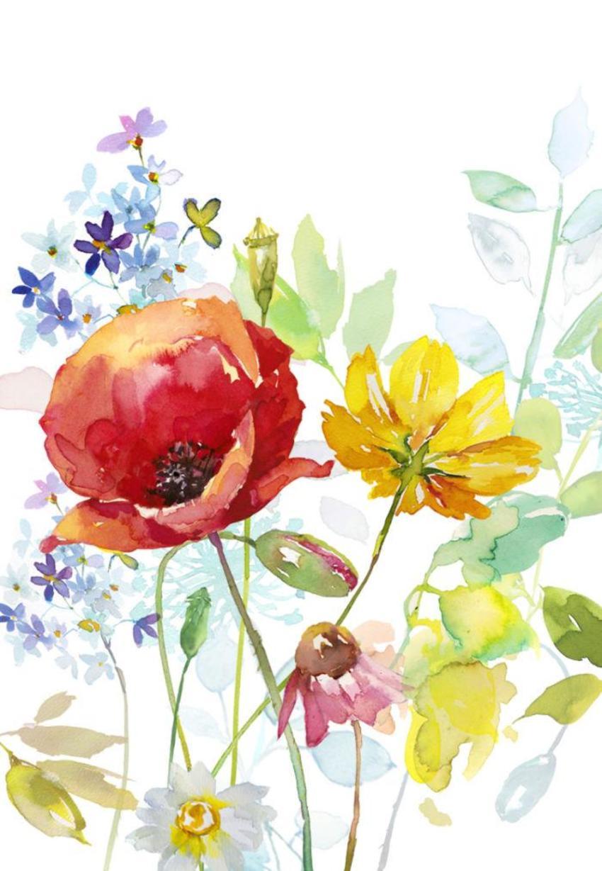Poppy & Yellow Flower Copy Copy
