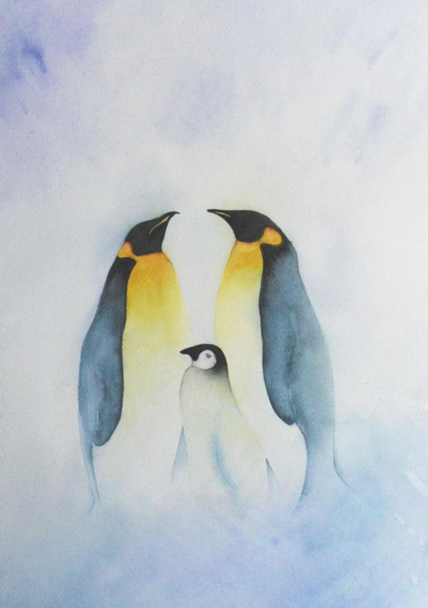Wall Art Penguin Family