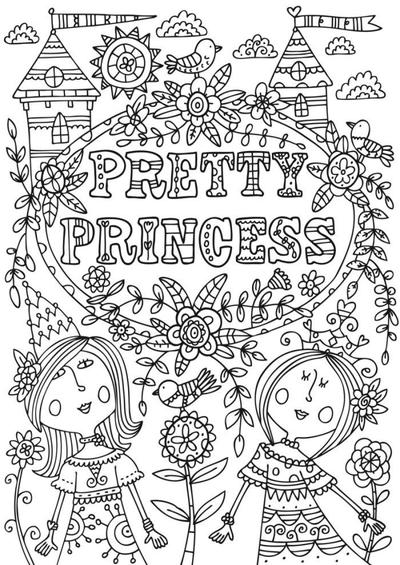 bwcolouring-prettyprincess