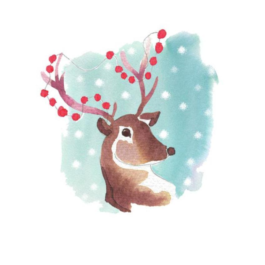 CW Xmas Painted Reindeer