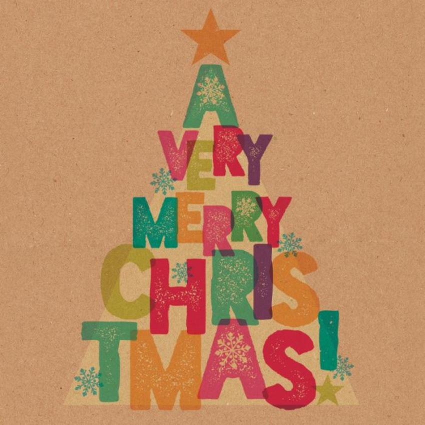 Christmas Lettering Tree V1