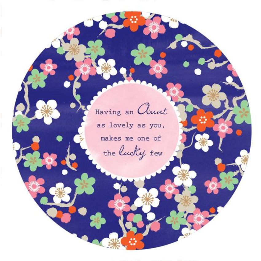 Female Birthday Mothers Day Aunt Quote Thank You Get Well Soon Floral Pattern Background Disc