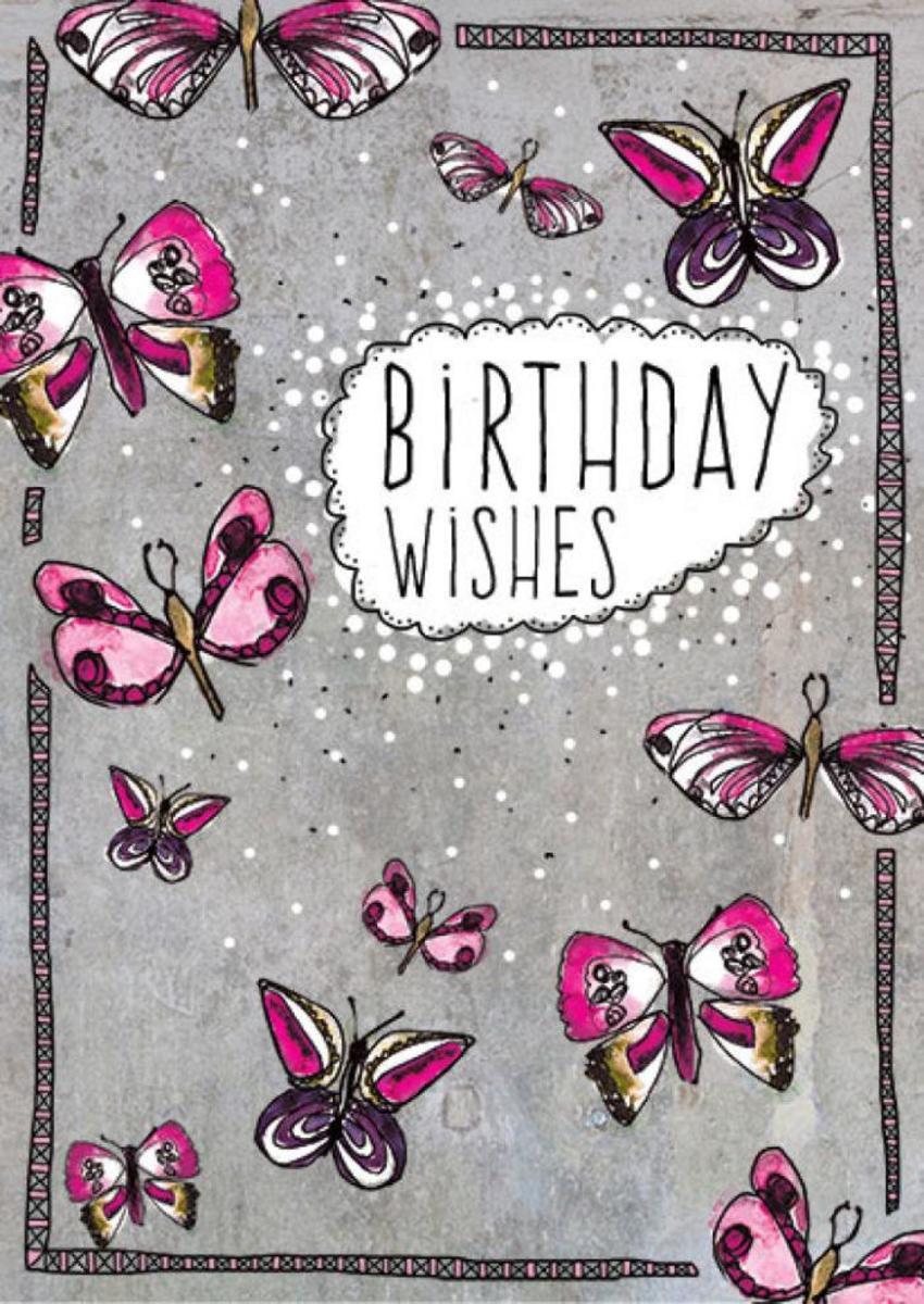 R Prinn Butterflies Female Birthday