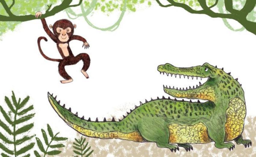 Adam Pryce Monkey And Crocodile No Text