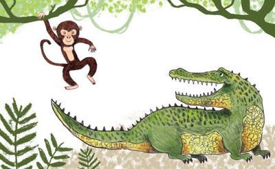 adam-pryce-monkey-and-crocodile-no-text