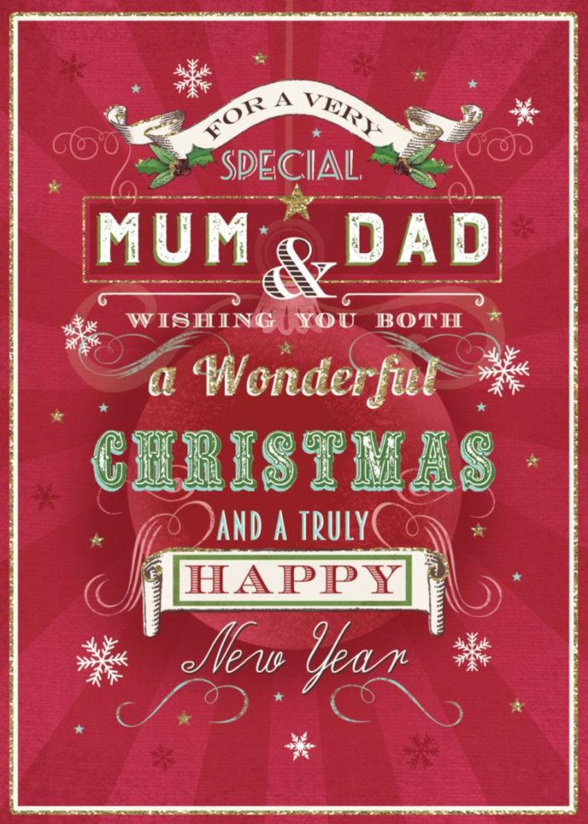 MUM AND DAD Christmas Vintage Type