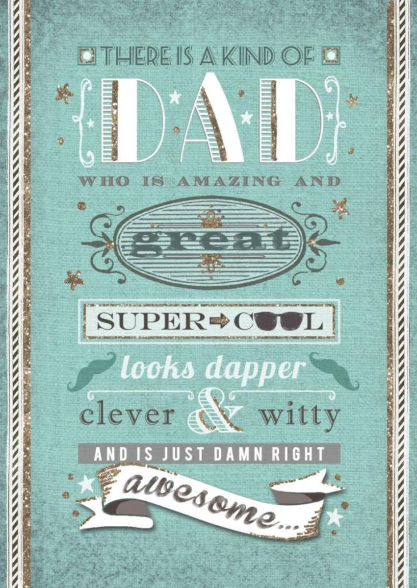 Dad Scroll Lettering