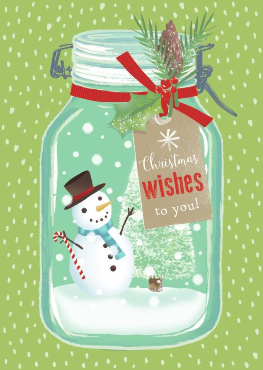 Christmas Snow Jar Snowman