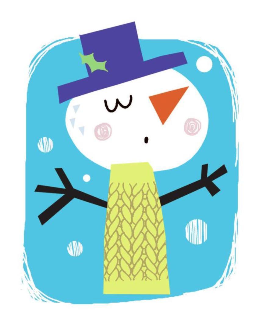 J Schof Snowman In Jumper