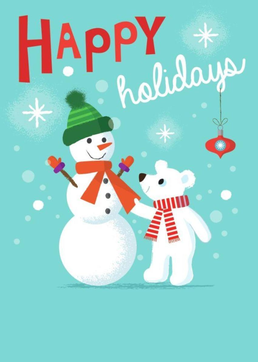 ACW Polar Bear Snowman Holiday Christmas