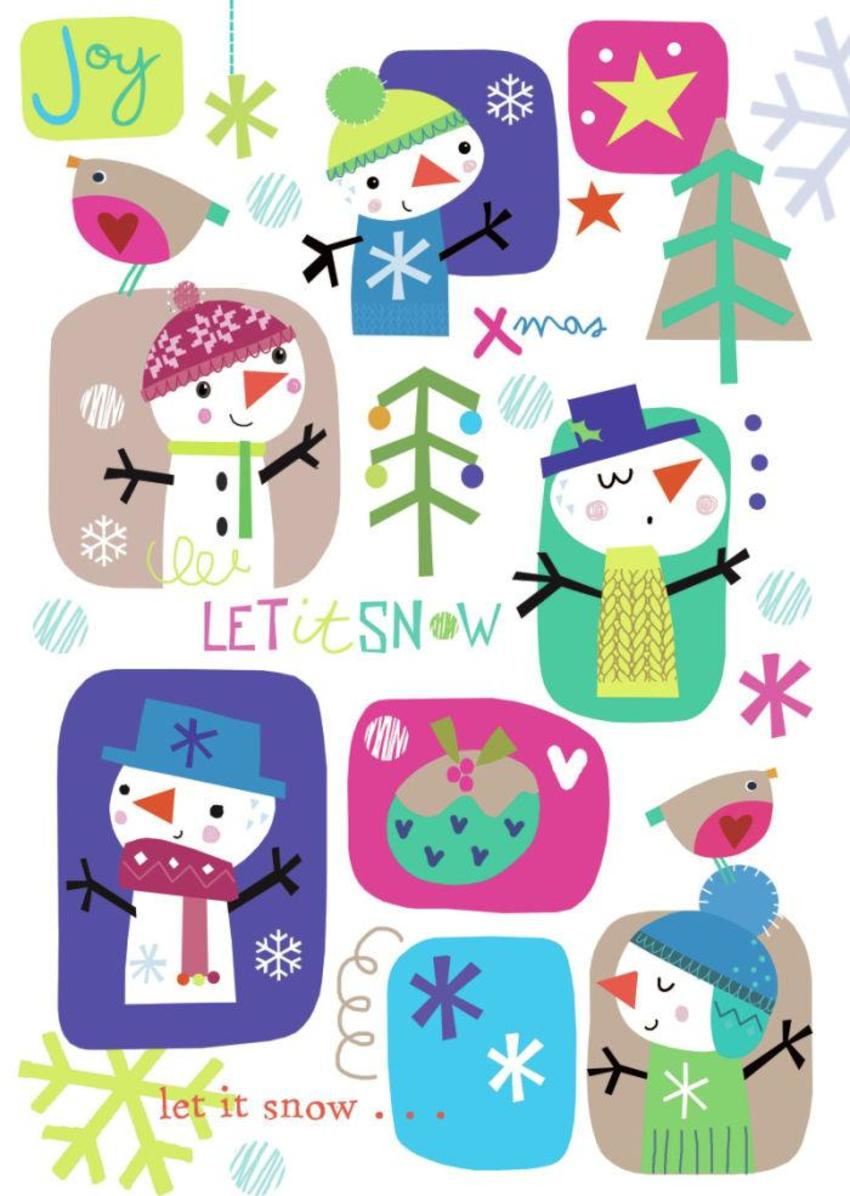 J Schof Snowmen Montage