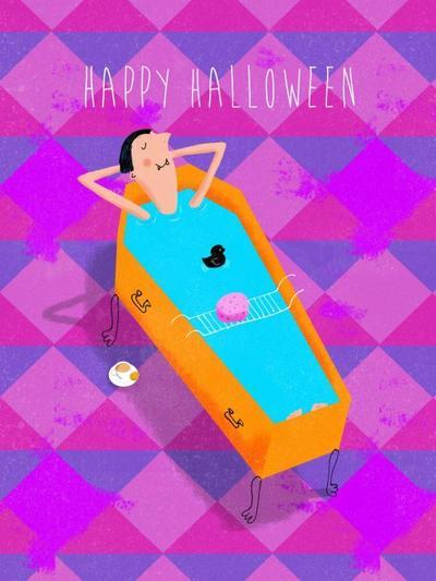 halloween-dracula-bath-humour-card-blue