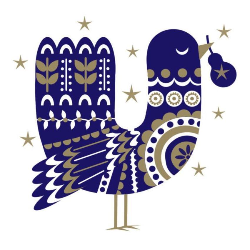 Scandinavian-Christmas-Bird Foil