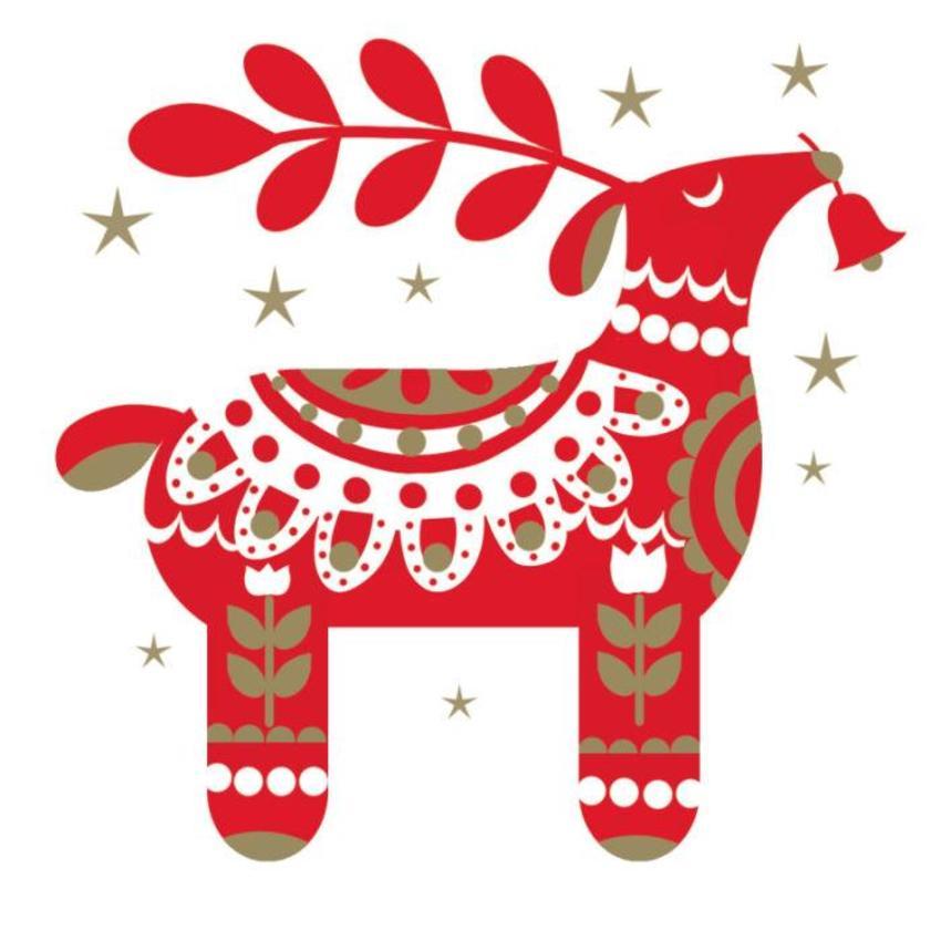 Scandinavian-Christmas-Reindeer Foil