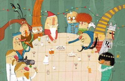 pb018-santa-claus-dinner-party