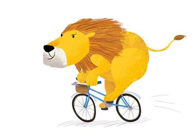 lion-bicycle