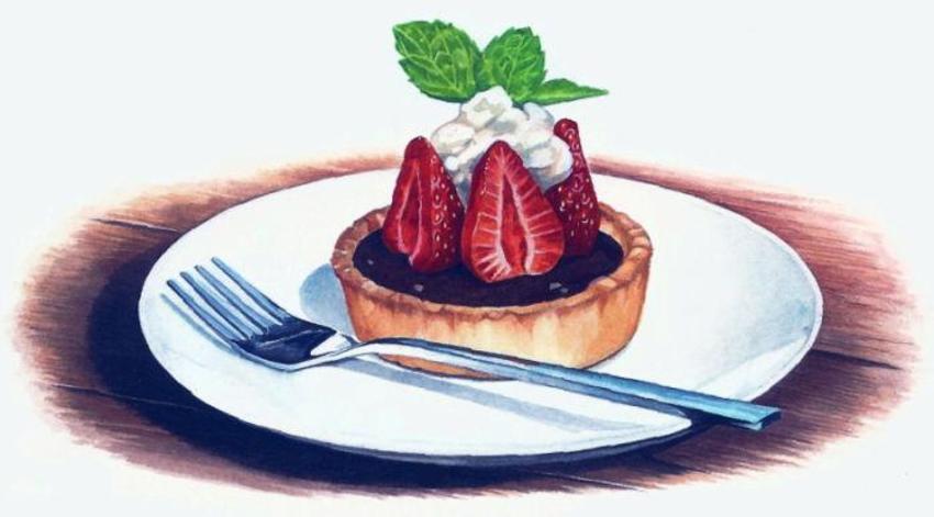 Chocolate Tart & Strawberries