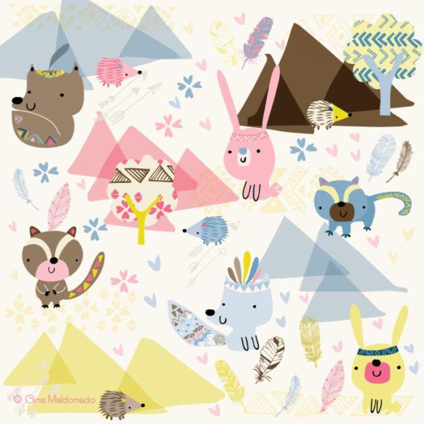 Tribal Animals Pattern - GM