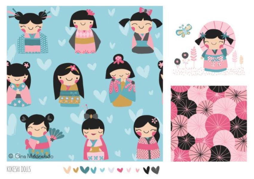 Kokeshi Dolls Pattern - GM