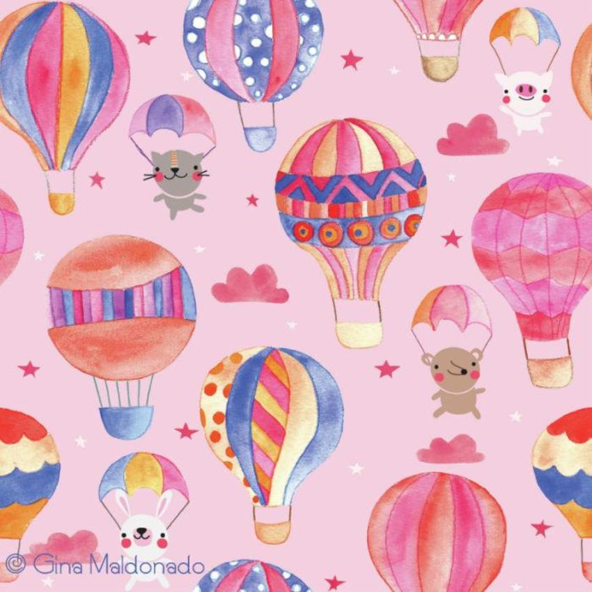 Animals In Hot Air Balloons Pattern - GM