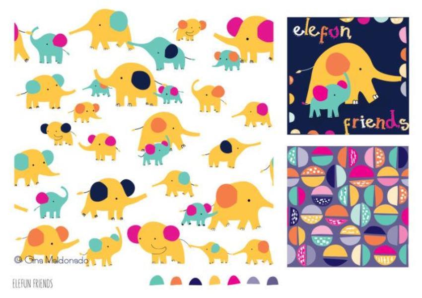 Herd Of Cute Elephants Pattern - GM