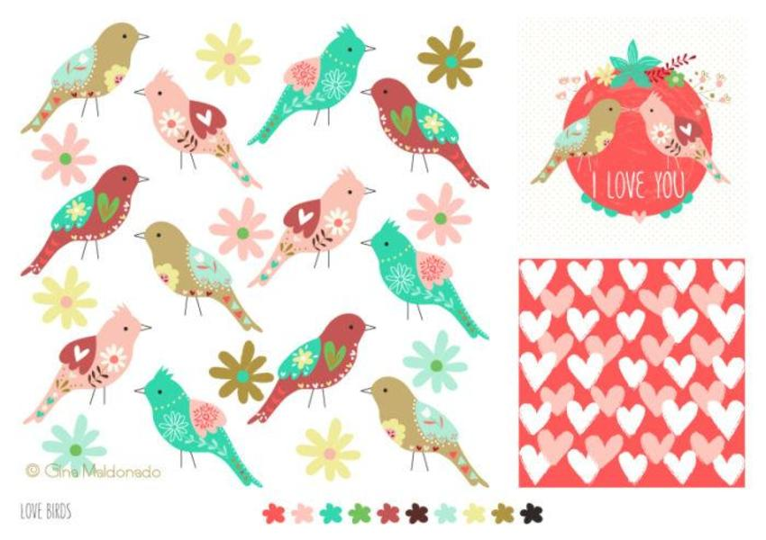 Love Birds Pattern - GM