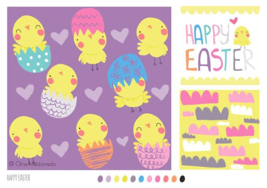 Happy Easter Pattern - GM