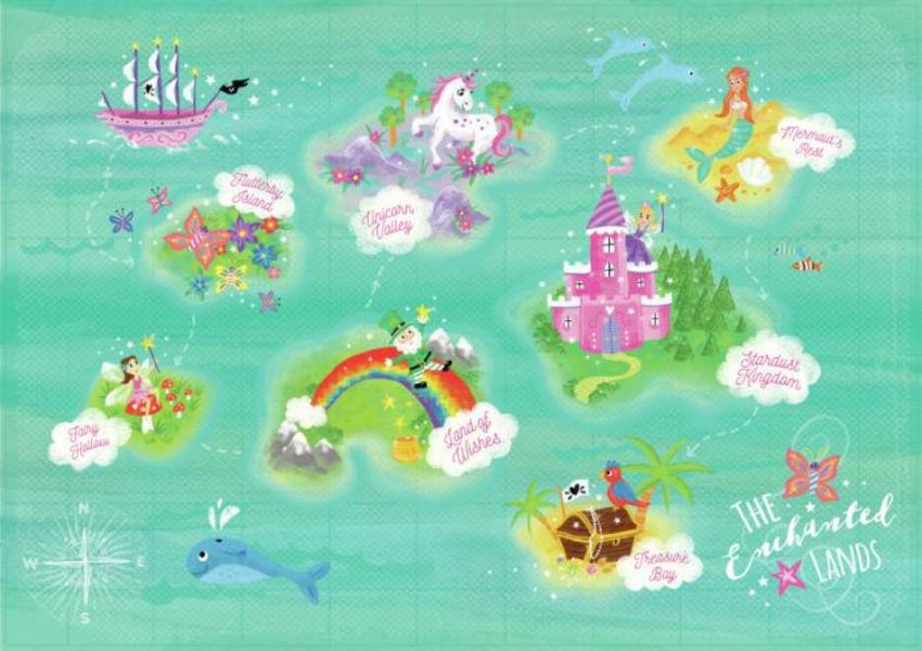 Map Children's Book Fairies Pirates Unicorns