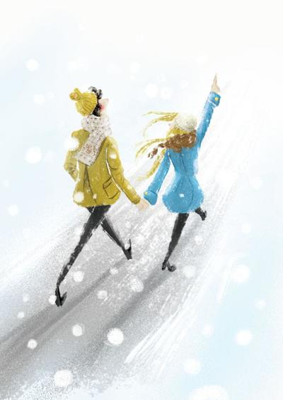 snow-couple