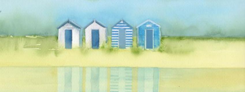 Coastline Beach Hut Mug Design 2