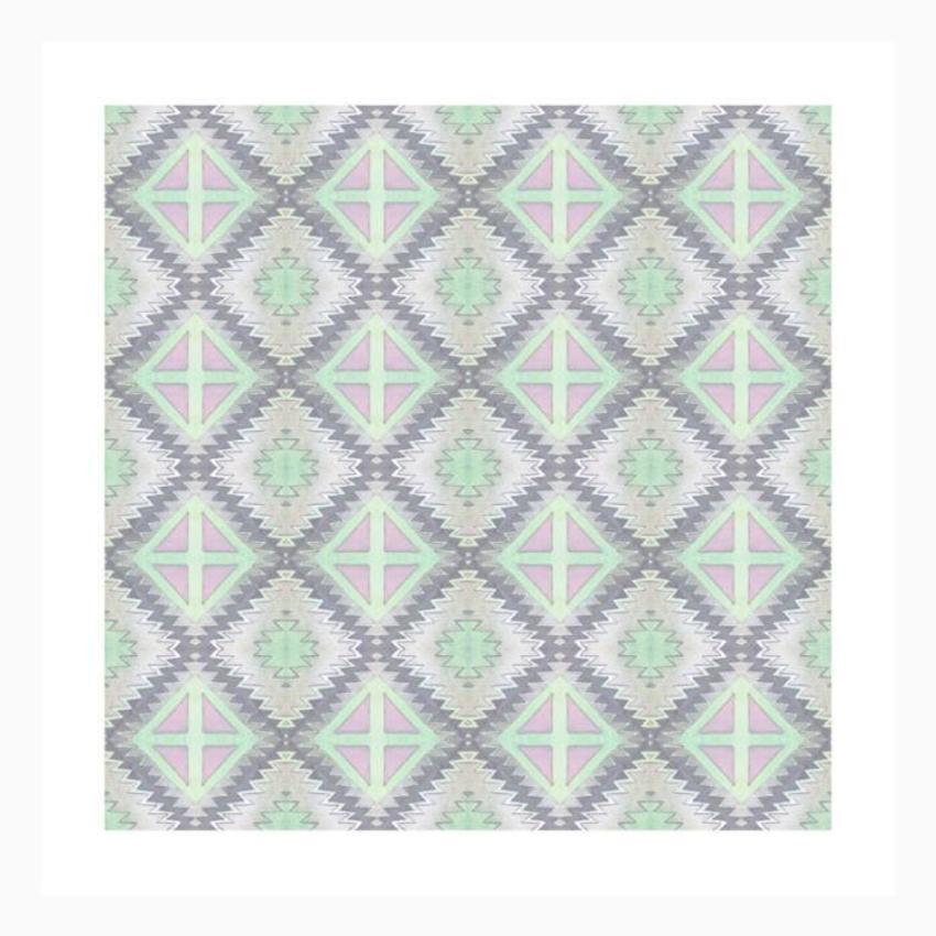 Pattern Navajo Pink Grey