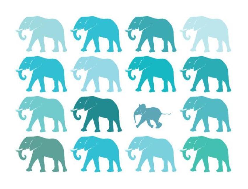 Riviera Green Elephants