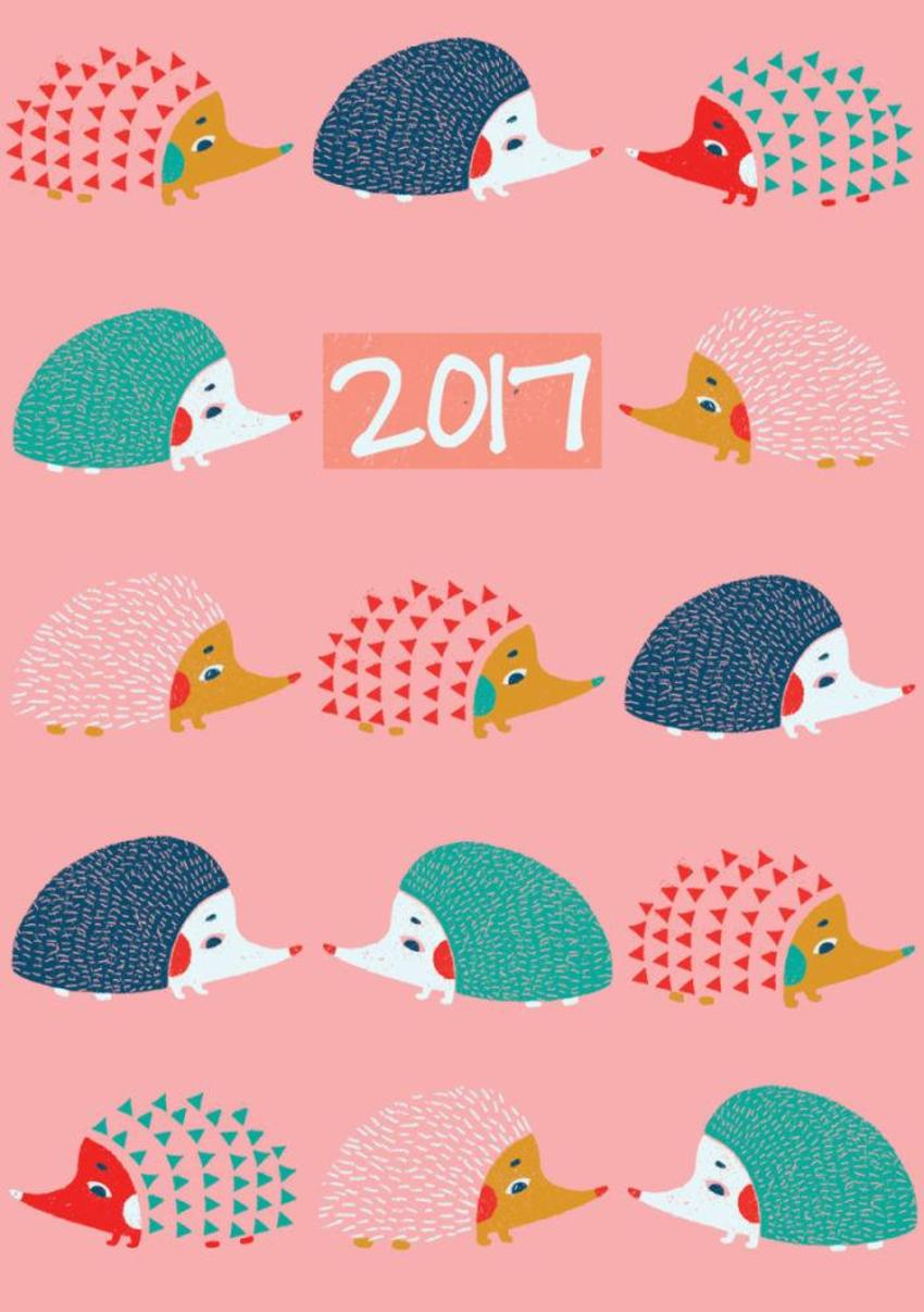 Hedgehog-pattern-diary