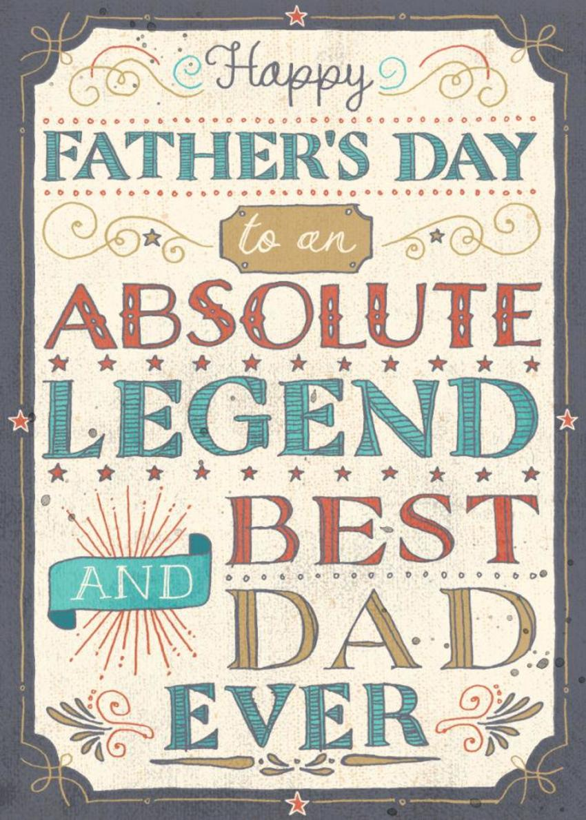 Father's Day Lettering RGB