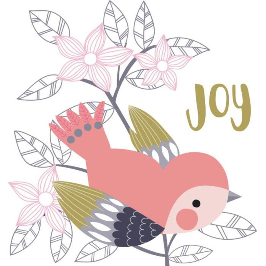 Christmas Card - GM_Bird And Flowers