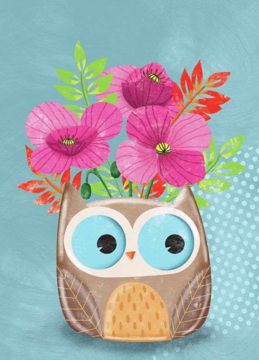 Owl Pot Plant - GM