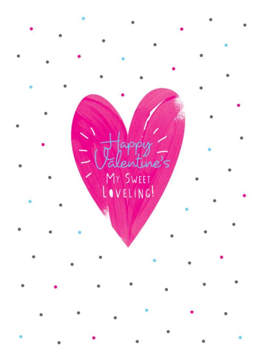 Love Female Girlfriend Valentines Day Anniversary Pink Love Heart And Polka Dots