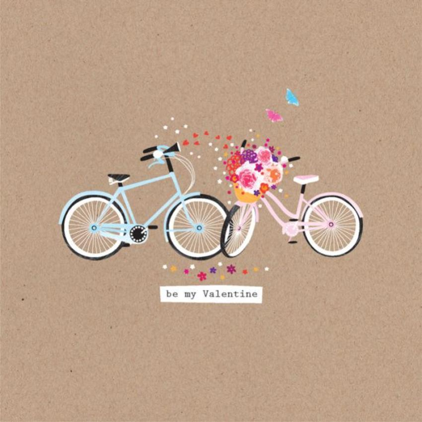 Love Anniversary Valentines Day Engagement Cute Bike With Flowers Two Bikes In Love Bike 2