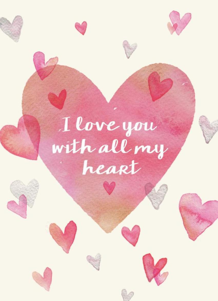 Watercolour Valentine Heart4