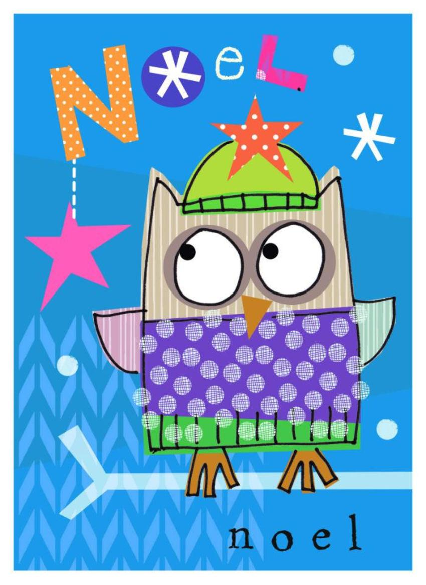 J Schof Christmas Owl Three