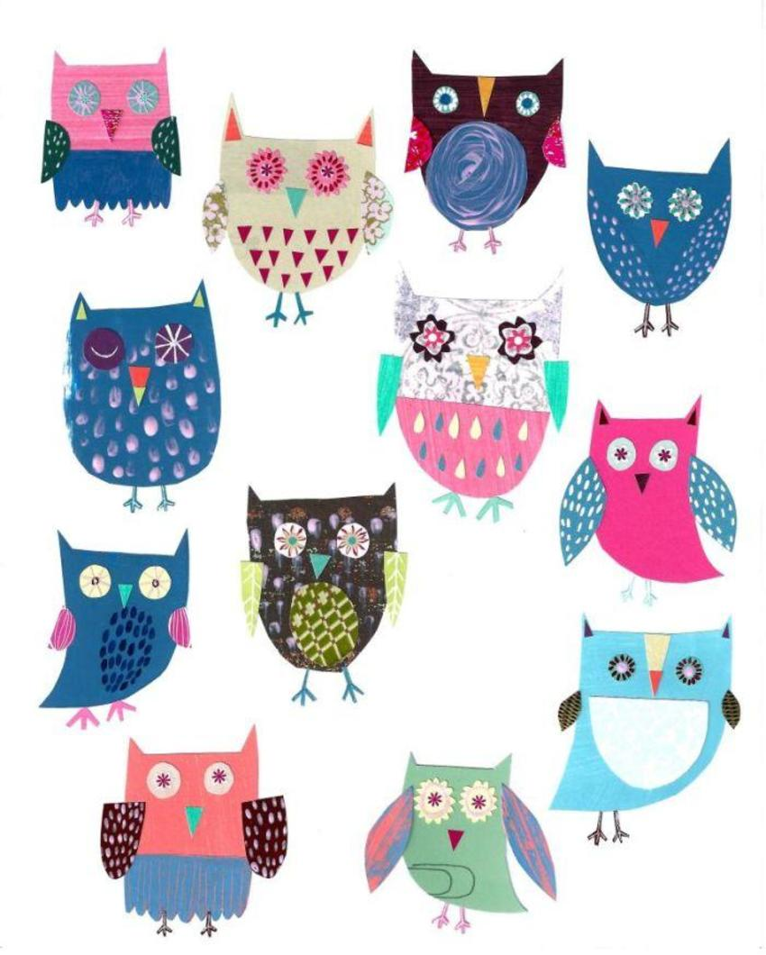 PT - New Folk Owl Art