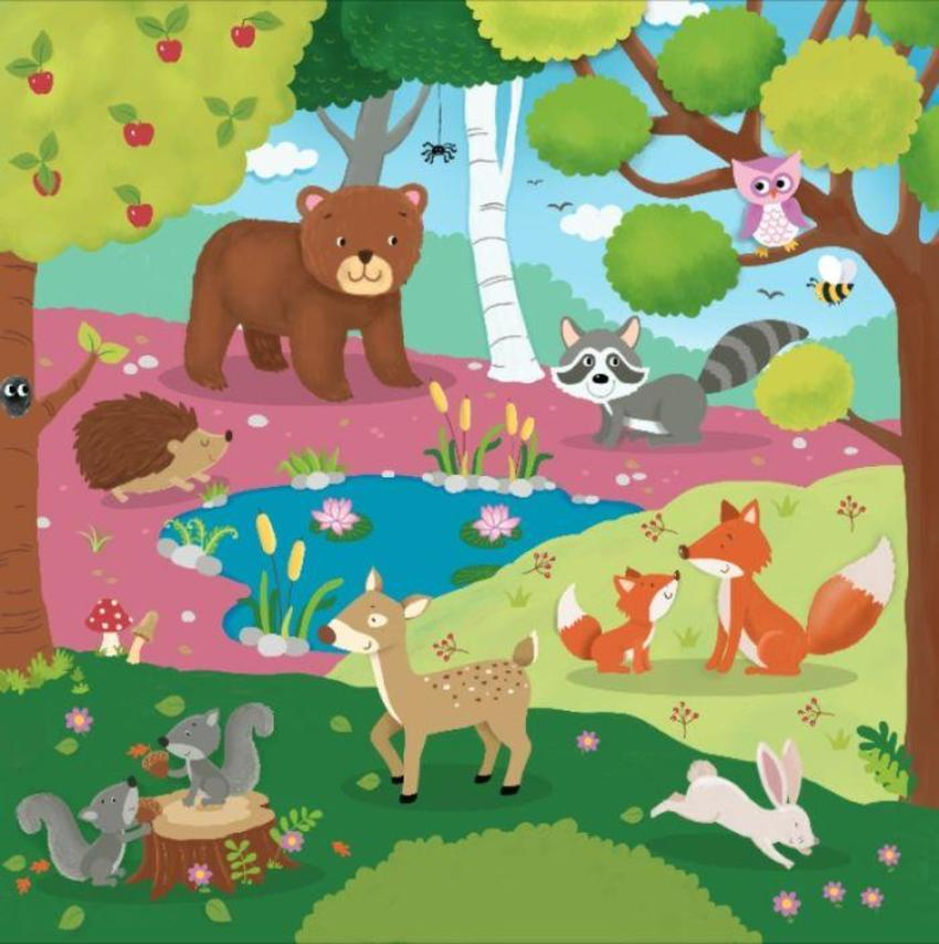Puzzel Woodland Animals