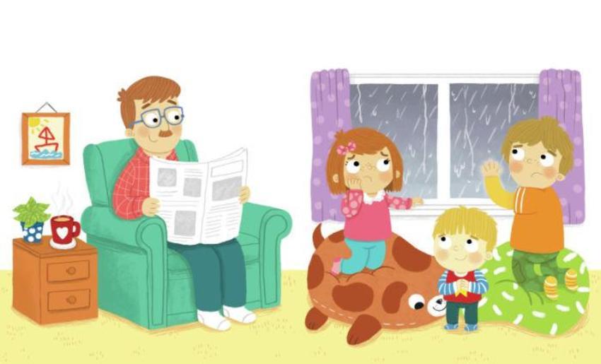 Children Family Raining