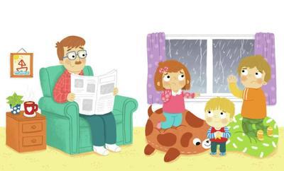 children-family-raining