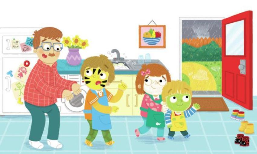 Children Family Kitchen