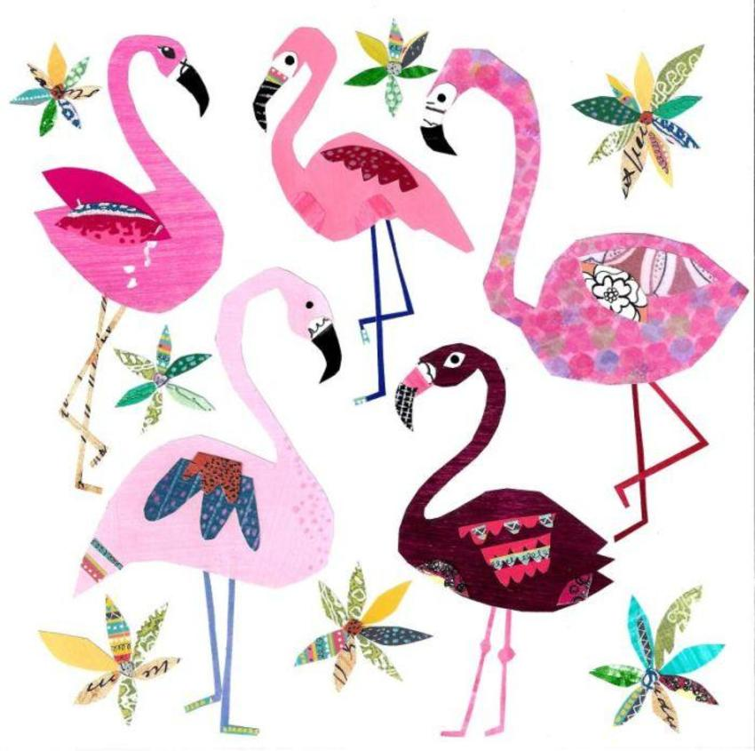 Liz And Kate - New Flamingo And Floral